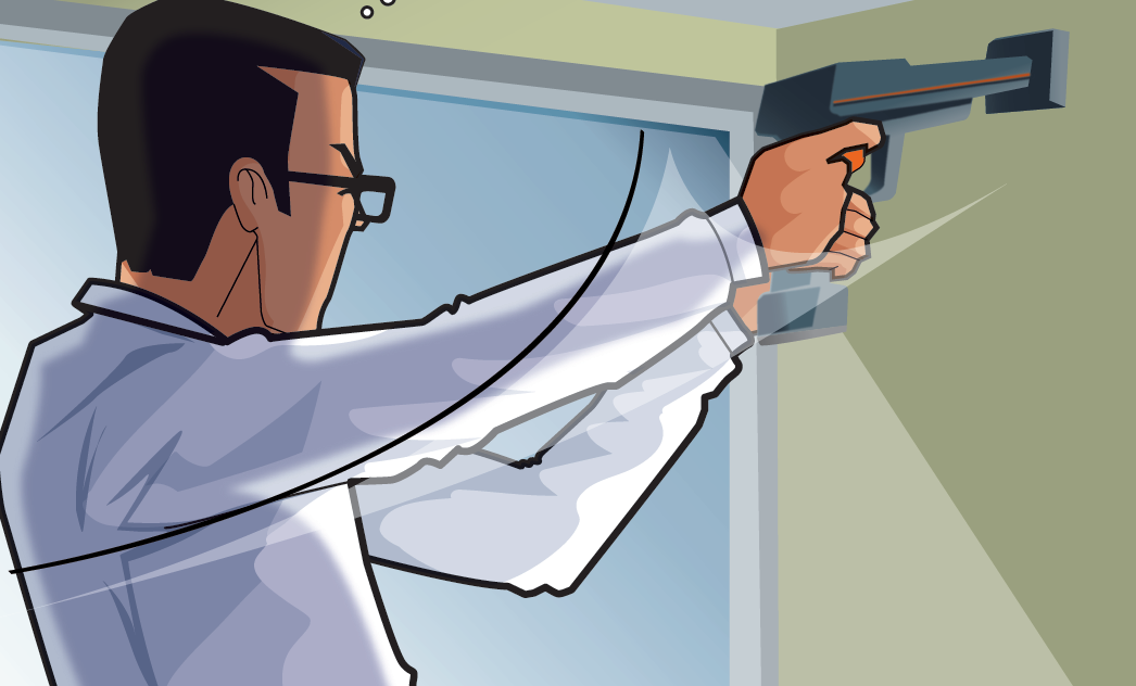 Diago de Diagamter mesure la concentration en plomb à l'aide d'un appareil à fluorescence X.
