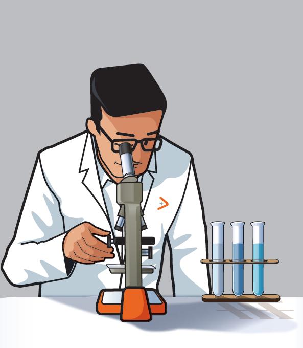 Diago de Diagamter en train d'analyser en laboratoire des échantillons d'amiante.