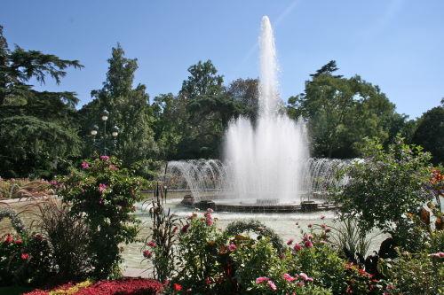 La fontaine du jardin des plantes à Toulouse