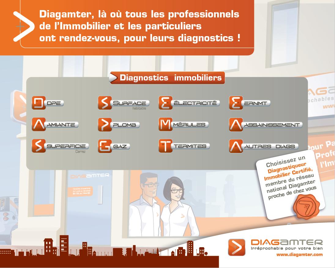 La liste des diagnostics immobiliers réalisés par Diagamter.