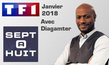 Diagamter parraine sept à huit sur TF1
