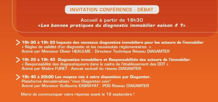 Programme conférence à Lille le 1 octobre 2015 les bonnes pratiques du diagnostic immobilier