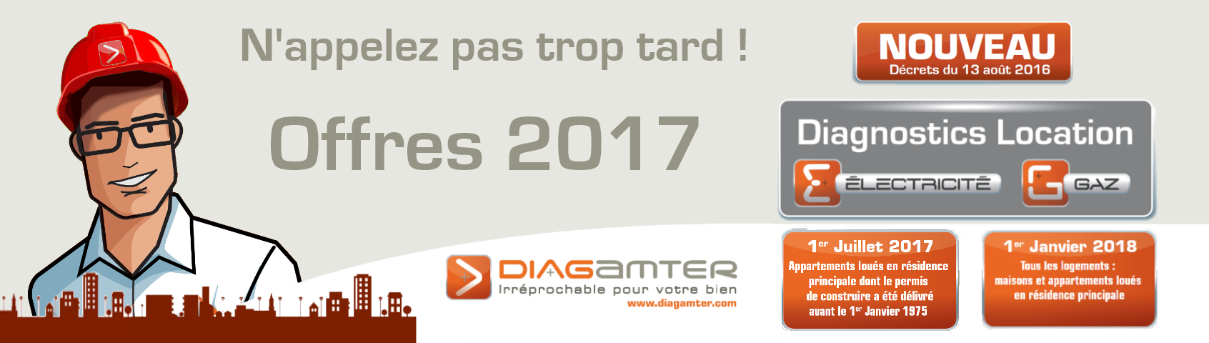 Diagnostic gaz location obligatoire partir 1er juillet 2017 diagamter - Diagnostic electricite location ...